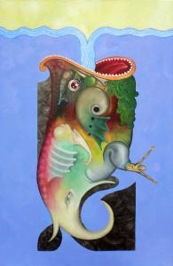 Léviathan -Huile sur toile 100X65 cm (2005)