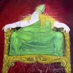 Le travail de La papesse Jeanne 80X80 cm - 2007