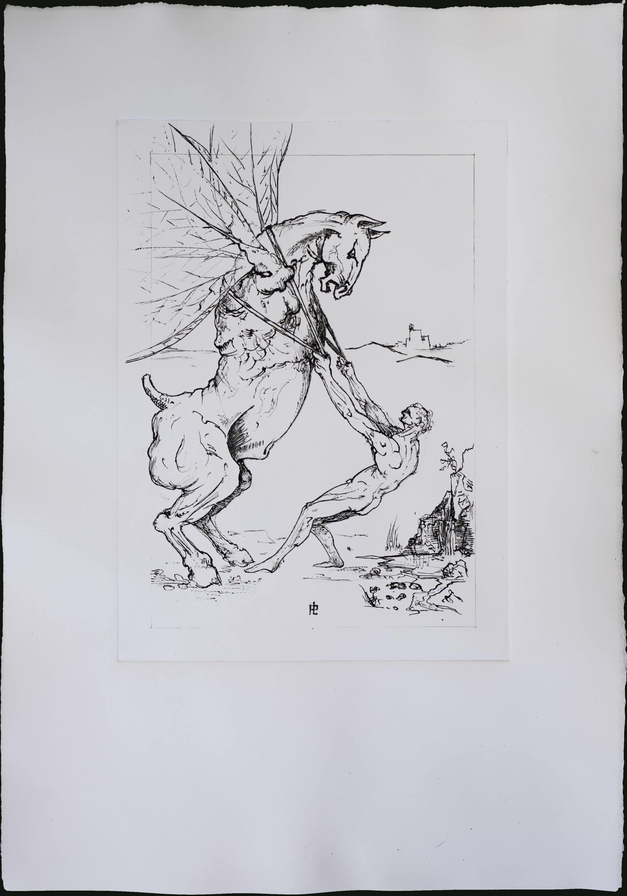Mes œuvres exposées en Italie Proca taille douce gravure