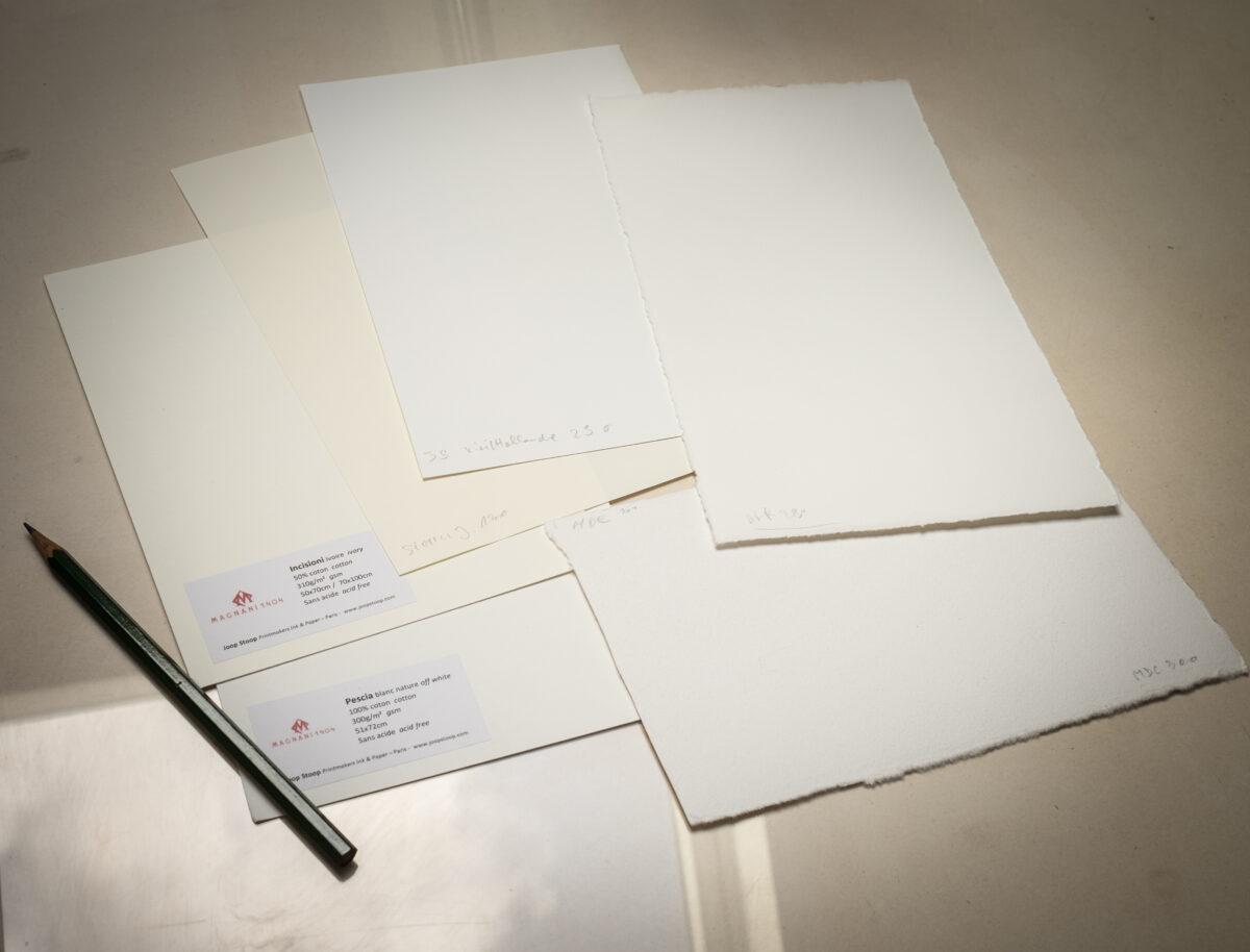 Et le papier ? Les papiers utilisés pour le test